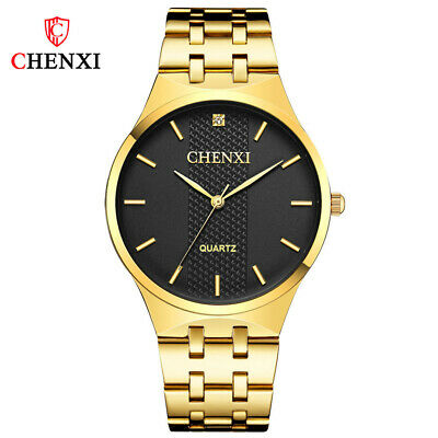 $ CDN16.40 • Buy CHENXI Men Watch Top Brand Business Male Steel Quartz Wristwatch Gold Watches