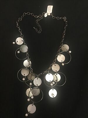 $ CDN5.06 • Buy NWT Lia Sophia Mother Of Pearl Long Necklace Chain Shell MOP Dangling Hematite