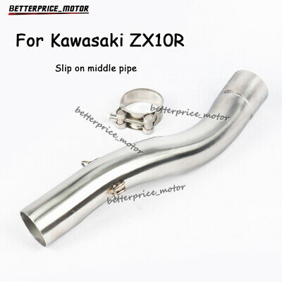 $68.99 • Buy For Kawasaki ZX10R 2004-2005 Motorcycle Exhaust Middle Pipe Stainless Steel