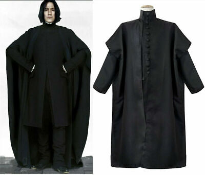 $ CDN67.07 • Buy Harry Potter Deathly Hallows Severus Snape Costume Cosplay Party Black Outfits
