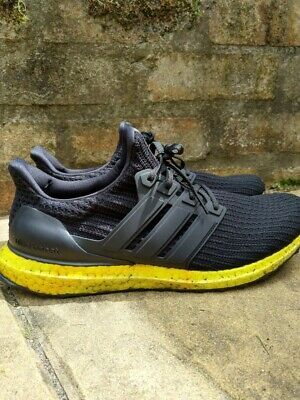 AU60 • Buy Adidas Ultraboost 4.0 Black/Solar Yellow Size 11 Pre-Owned