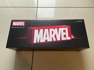 "$ CDN113.66 • Buy Marvel Comics Official Logo 17"" Inch Light Box Led USB Mains Power Not Hot Toys"