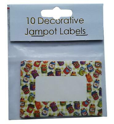 25 Jam Jars Decorative Self-Adhesive Jam Pot Labels • 5£