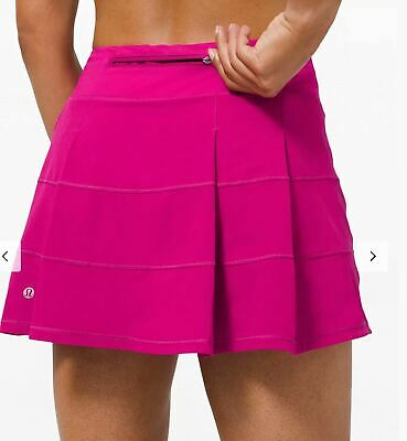 $ CDN124.99 • Buy Lululemon Nwt Pace Rival Skirt Sz 10 Tall Ripened Raspberry Tennis Run Golf Gym