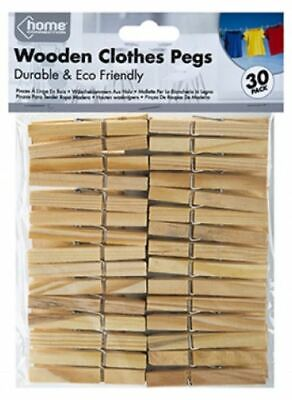 Wooden Clothes Pegs For Washing Line Wood Peg Gardens Airer Dry From 4p Per Peg. • 2.95£
