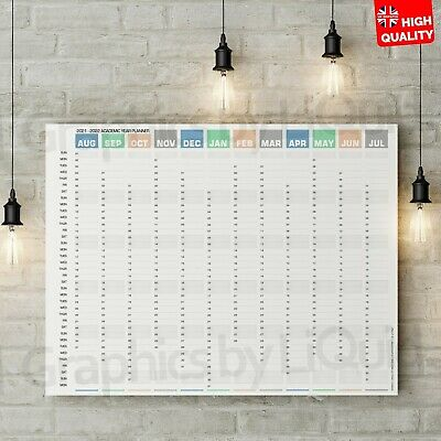 £13.99 • Buy 2021 - 2022 Academic Wall Planner Mid Year Student Calendar Poster