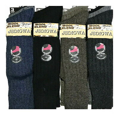 £8.56 • Buy 3x MENS LONG WELLY WOOL BLEND WORK BOOT HIKE THERMAL WARM SOCKS SIZE 6-11