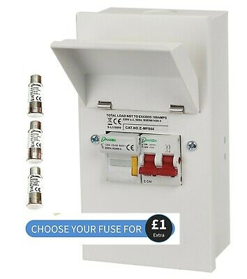 £27.99 • Buy Metal Clad Fused Isolator Sub Main Switch Fuse Unit Single Phase 63A 80A Or 100A