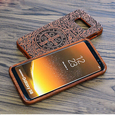 $ CDN16.36 • Buy 100% Natural Wood Bamboo Phone Fitted Case Cover For Samsung Galaxy S9/S9+ Plus