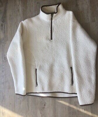 Ladies Peter Storm Fleece Size 14 Pre-owned Cream With Brown Trim • 5£