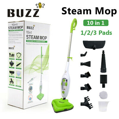 View Details 1500W Hot Steam Mop Cleaner 10 In 1 Floor With 1/2/3 Heads Carpet Window Steamer • 38.99£