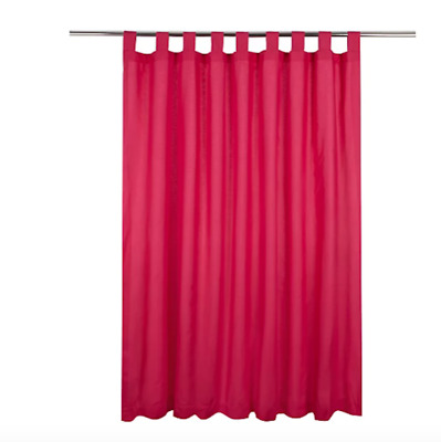 George Home Kids  Hot Pink Tab Top Lined Curtains 66 X 54in • 12.99£