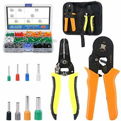 AU50.48 • Buy Ferrule Crimping Plier Tools And 10-22 AWG Wire Stripper With 800pcs Wire