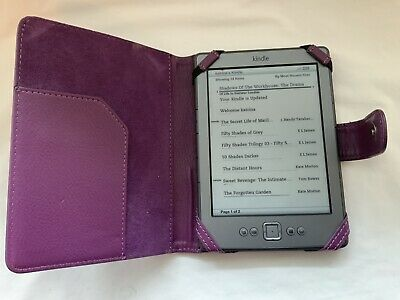 AU27.05 • Buy Amazon Kindle D01100 E-book Reader With Leather Case