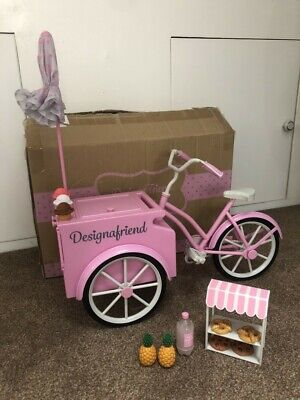 Design A Friend, Ice Cream, Sweet Treat Cycle Cart, Bike / Our Generation , NEW • 34£