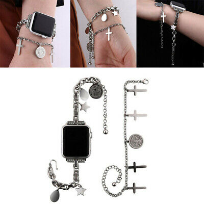 AU27.22 • Buy Stainless Steel Bracelet Chains Band Iwatch Strap For Apple Watch 38 40 42 44mm
