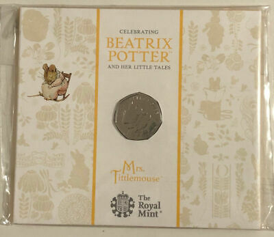 2018 Beatrix Potter Mrs Tittle Mouse 50p Coin Fifty Pence BU Royal Mint Pack • 3.20£