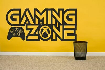 £15.99 • Buy Gaming Zone Wall Stickers Xbox One X Controller Gamer Vinyl Decals Kids Bedroom