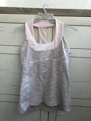 $ CDN52.51 • Buy Lululemon Pink Top With Fitted Bra Uk 10-12