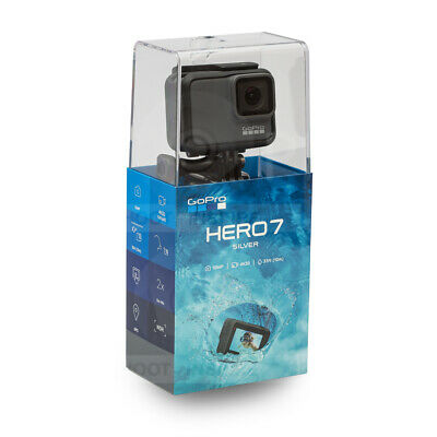 $ CDN251.16 • Buy GoPro Hero 7 + Head Strap ! Silver 4K 1080p60 10MP Waterproof Camera CHDHC-601