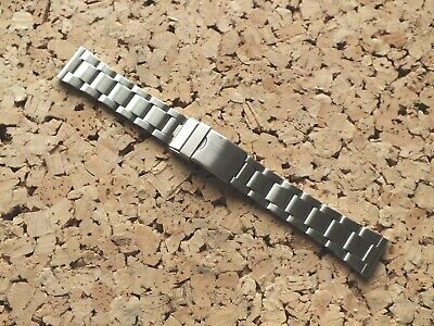 £4.99 • Buy Brushed Stainless Steel Folded Link Watch Strap 20mm Straight Ends