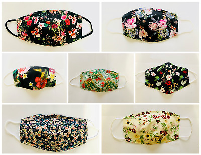 Face Mask- Floral Design, Reusable, Single Ply Cotton, Breathable Fabric  • 2.49£