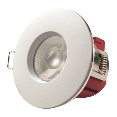 £9.49 • Buy Fire Rated LED Dimmable Downlight Recessed Ceiling Spotlights IP65 White Chrome
