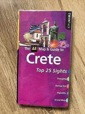 AA Map & Guide To Crete Book • 4£