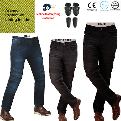 Motorbike Motorcycle Jeans Trousers Biker With CE Armoured Aramid Protective 36 • 39.99£