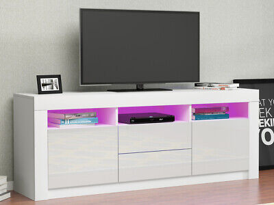 £139.99 • Buy Modern 160cm TV Unit Cabinet Stand Sideboard White High Gloss Doors With RGB LED