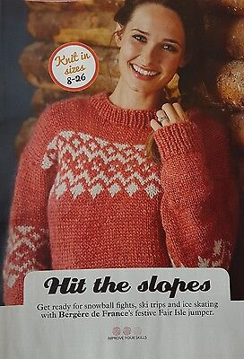 Ladies Jumper Knitting Pattern.Hit The Slopes By Bergere De France  • 1£