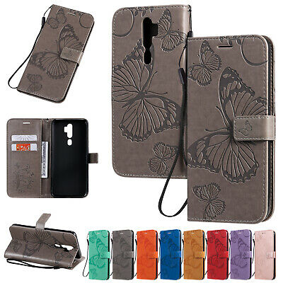 AU60.93 • Buy For Oppo A9 2020 Realme 3 5 Pro C11 C15 A57 F9 Leather Magnetic Wallet Flip Case
