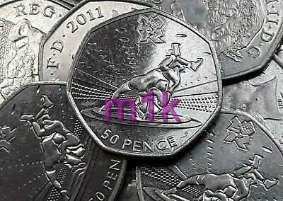 £10.49 • Buy 2011 WRESTLING London Olympic 50p Fifty Pence Circulated