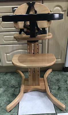 £63.95 • Buy East Coast Child's Curved Multi-Height Feeding Highchair Natural Wood