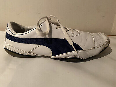 AU25 • Buy Puma Rare Retro Leather Sneakers Runners Size US10 White Blue Rubber Sole