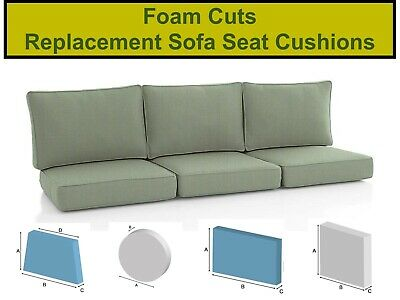 £0.99 • Buy Sofa Cushions / Beds / Outdoor Seating Foam Cut To Any Size / Shape / Thickness