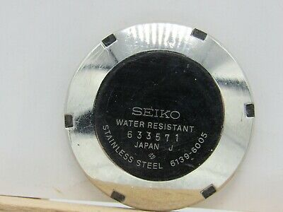 $ CDN125.52 • Buy Vintage WATCHMAKERS Estate SEIKO 1976 Pogue 6139-6005 CASE Back For PARTS/Repair