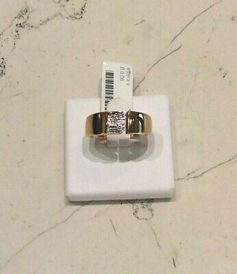 AU633.26 • Buy Ring New Yellow Gold 18kt Letter S Diamonds Cut Bright CT 0.06 - 50%