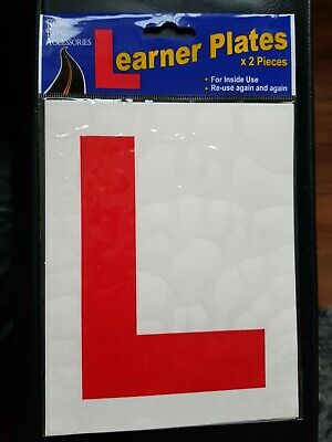 Qty 2 Front & Rear Car L Plate Learner Driver Legal Size • 1.48£