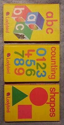 Ladybird Early Learning Books - Abc, Counting And Shapes • 0.99£