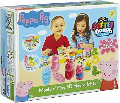 £13.75 • Buy Peppa Pig Softee Dough Mould N' Play 3D Figure Maker Inc 5 Colours & Accessories