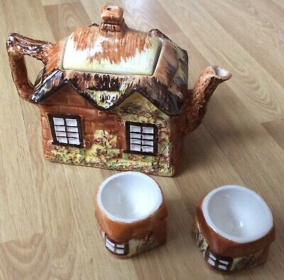 £12 • Buy Price Brothers 'YE OLD COTTAGE' Teapot And Egg Cups