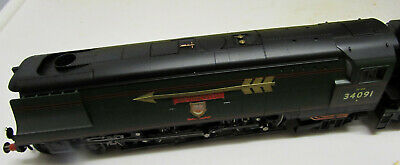 Hornby West Country Class 4-6-2  Weymouth  34091 In BR Green Late Crest Renumber • 224.99£
