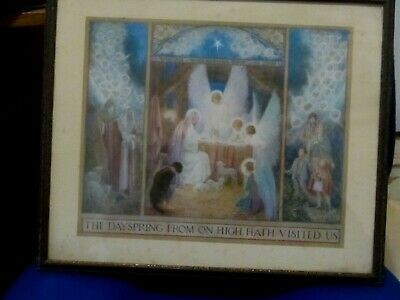 Vintage 1920s/30s Margaret Tarrant Print The Dayspring From On High Hath Visited • 7.99£