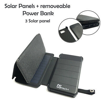 AU32.99 • Buy Solar Panel Battery Charger USB Solar External Power Bank With LED Light