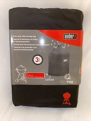 $ CDN56.39 • Buy 1 X Weber 7150 Premium Grill Cover For Kettle & Master-Touch Charcoal Grill 22