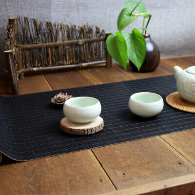 AU17.88 • Buy Tea Mat Chinese Gongfu Placemat Tea Table Runner Dining Room Home Decor Black