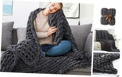 £120.65 • Buy  Chunky Knit Throw Blanket 60 X80 - Soft Large Cable Knitted Chenille For Bed So