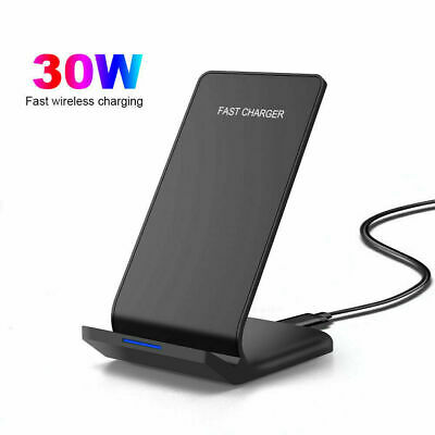 $ CDN18.74 • Buy 30W Qi Fast Wireless Charger Charging Dock Stand For IPhone 12 Pro Max 11 XS X 8