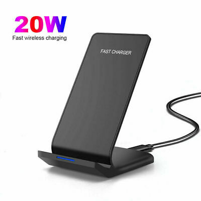 $ CDN15.76 • Buy 20W Qi Fast Wireless Charger Charging Dock Stand For IPhone 12 Pro Max 11 XS X 8